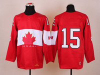 Ice Hockey Men Full 2014 Olympic 15 Getzla Winter Hockey Jerseys Red with Gold Leafs High Quality Jerseys Cheap Jersey Top Player Hot Selling