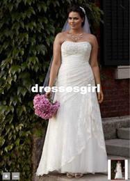 Wholesale 2017 Custom Made A Line bretelles en dentelle Robe apnée et élastique avec robe de mariée Robe de mariée en dentelle sans bordure en satin sans fin YP3344