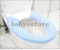 Acrylic Eco-Friendly Overcoat Toilet Case (Minimum order $5,can mix) Various Color Washable Bathroom Soft Toilet Seat Cover Pads HY24198