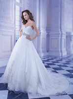 A-Line Real Photos Strapless 2014 Simple Strapless A-Line Organza Wedding Dresses Demetrios Ruched Floor Length Chapel Train Beaded Bridal Gowns