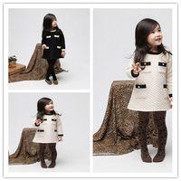 Wholesale 2014 Spring Baby Kids Clothing Korean Air cotton pocket long sleeve Girls Dresses Children princess Dress TS199
