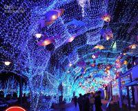 Christmas christmas lights color led - Full Size Color LED Bulbs Waterproof Curtain Lights Christmas Fairy wedding Icicle lights strip L102
