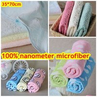 Wholesale 100 nanometer microfiber Face Towel Big Size cm baby towel dry hair towels cleaning cloths Lovely Rabbit smile love thick soft