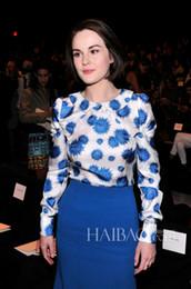 Wholesale New print women dress elegant long sleeve work dresses Z1070 Cotton Polyester