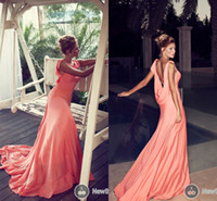 Bling 2014 New Evening Celebrity Dresses Backless Chiffon Pa...