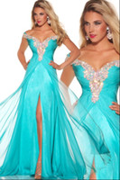 Dazzing Crystal Prom dresses Floor- Length applique beads A- l...
