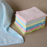 Wholesale New Lovely rabbit baby towels nanometer microfiber face Towels cleaning cloth Super soft thicker cm