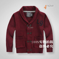 Wholesale Boys Cardigan Knitted Sweaters Kids Clothes Child Long Sleeve Cardigan Breasted Sweater Coat Casual Cardigan Children Clothing Wool Sweaters