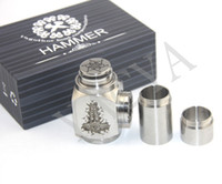 Electronic Cigarette Set Series Hammer mod 50 sets Hammer Mod E-Pipe ModS Kit full Mechanical Air Contral with 2 Extension Tubes Free shipping