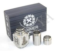 Wholesale Hammer pipe Mod Kit E cigarette E pipe Mod Mechanical Hammer battery body for thread atomizer electronic cigarette set