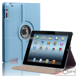Wholesale 360 Degree Rotating PU Leather Magnetic Case Smart Cover Stand For iPad Air Mini pc FEDEX