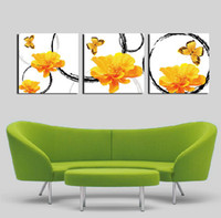 More Panel Fashion Landscape 3 Panels Modern Wall Painting living room yellow flower picture wall art oil Painting Home Decorative Art Picture Canvas Prints
