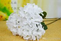 Wholesale p Fashion WHITE cm Long Stem Silk Artificial Hydrangea Laurustinus Flower Home Decoration