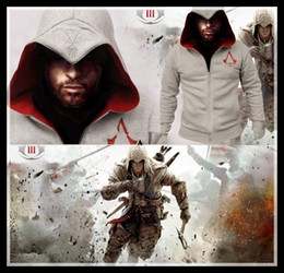 Wholesale Hot New Assassin s Creed III Conner Kenway Hoodie Top Coat Jacket Cosplay Costume
