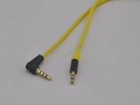 Wholesale 200pcs mm Plug Male to Male L Stereo Audio Cable For Monster Beat Headset Y789 iPod