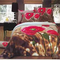 Wholesale Rural style unique oil printed pc d bedding set Luxury bedlinen bedsheet king queen size Duvet Quilt cover bedclothes sets