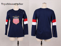 Wholesale New Womens Olympic Team USA Hockey Jersey Ladies Brand Hockey Jersey Hot Sale Team USA Jerseys for Women High Quality Players Uniform