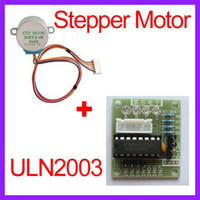 Cheap 2pcs Lot 5V 4 Phase 28YBJ-48 DC Gear Stepper Step Motor with ULN2003 Driver Board for PIC MCU DIY