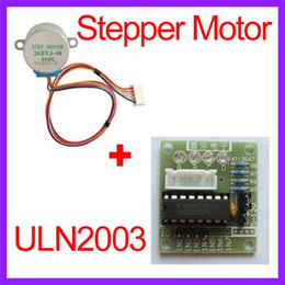 Wholesale 2pcs V Phase YBJ DC Gear Stepper Step Motor with ULN2003 Driver Board for PIC MCU DIY