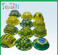 Wholesale Brazil football world cup plastic souvenior brazil festival carnival accessories