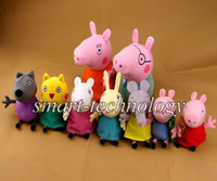 Cheap Retail New item 2014 New Peppa Pig Family & Peppa Pig's Friends 9pcs set Plush Doll Toy Stuffed