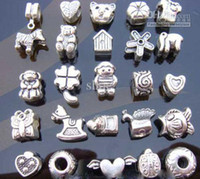 Wholesale 200pcs metal alloy silver plated beads Bead Spacer fit charm bracelets and necklace AK09