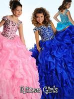 Wholesale flower girl dresses birthday pink for weddings first little girl christmas pageant crystal Communion Dresses for girls