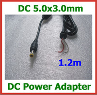 Wholesale 2pcs Universal x3 mm mm Tip DC Power Cable for Samsung Lenovo Acer Laptop Notebook Power Supply Charger DC Cable m