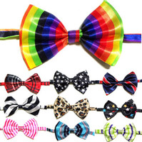 Wholesale gentleman children Bow Ties High Quality cm hand made Popular colors Lattice DOT Stripe mix colors