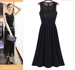 Wholesale 2014 new fashion elegant slim one piece dress full dress chiffon skirt