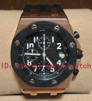 Sport Men's Quartz-Battery Luxury Brand New In Box AAA Quality Royal Oak Offshore 18k Rose Gold Chronograph Quartz Mens Watch Rubber Band Men's Sport Wrist Watches