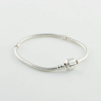 Charm Bracelets Other Women's 925 Sterling Silver Starter Charm Bracelet with Brand Clasp For European Charms and Beads