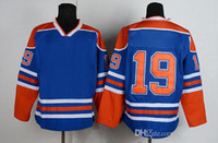 Cheap Schultz 19 Oilers Blue Hockey Jerseys Cheap American Ice Hockey Wears for Men High Quality Outdoor Apparel Comfortable Sportswear Mix Order