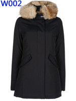 Wholesale WOOLRICH woman down feather jacket women long parka female sideling pocket coat top quality four colours