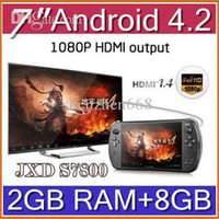 Wholesale DHL Android JXD S7800B S7800 game console RK3188 Quad core GB RAM GB ROM quot IPS game mp3 player tablet pc JY07