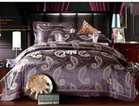 Wholesale European style Luxury Lace jacquard comforter bedding set queen size silk doona duvet cover bed sheet set home textile