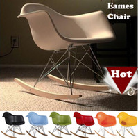 Wholesale Eames plastic side chair Eames Rocking Chair Modern Leisure Chair stools wood dining bar Chair Office Chair