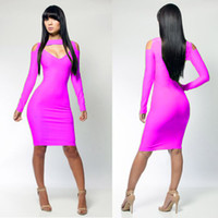 Wholesale 5 Colors Womens Long sleeve bandage bodycon dresssexy club dress fashion design One Size A4015