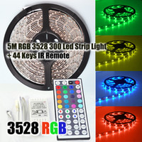 Wholesale RGB SMD Flexible Waterproof LED Strip Light key IR Remote Control