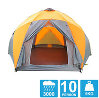 Wholesale 8 person high quality Windproof waterproof outdoors mm hex tent Durable family camping gear party marquee tent