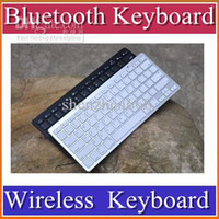 Wholesale DHL Slim Aluminum ABS Wireless Keys Bluetooth Keyboard for android device apple