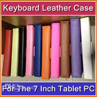 Wholesale DHL Inch USB keyboard leather case WM A10 A13 Q88 N77 VC882 epad tablet pc MID JJ07