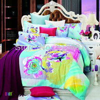 Wholesale colorful fancy bedding set cotton bedclothes bedspread Queen Full size quilt duvet comforter pillow case bed sheets linen sets