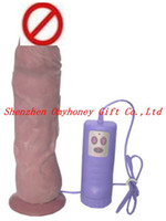 Wholesale Huge Penis Large Dildo speeds degree two way Rotation Vagina Massager Waterproof A034
