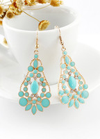 Wholesale Fabulous Metal Pierced Women s Fashion Earrings r58 u7 wLz