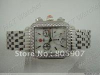 Wholesale Michele steel square watch with Swiss Diamond pin p