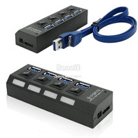 Wholesale Portable USB Hub Ports Speed Gbps For PC Laptop With On Off Switch Black