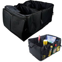 Wholesale New Folding Oxford Fabric Car Trunk Cargo Organizer Collapsible Bag Storage Black