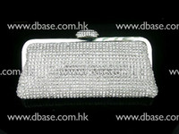Wholesale 8071 Silver Crystal HAND MADE Lady Fashion Evening Wedding Bridal Party clutch bag purse handbag IN FREE SHIPMENT