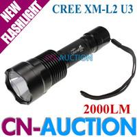 auction shipping - UltraFire C12 Flashlight CREE XM L2 U3 LM LED Flashlight Torch for Camping CN C12 CN Auction